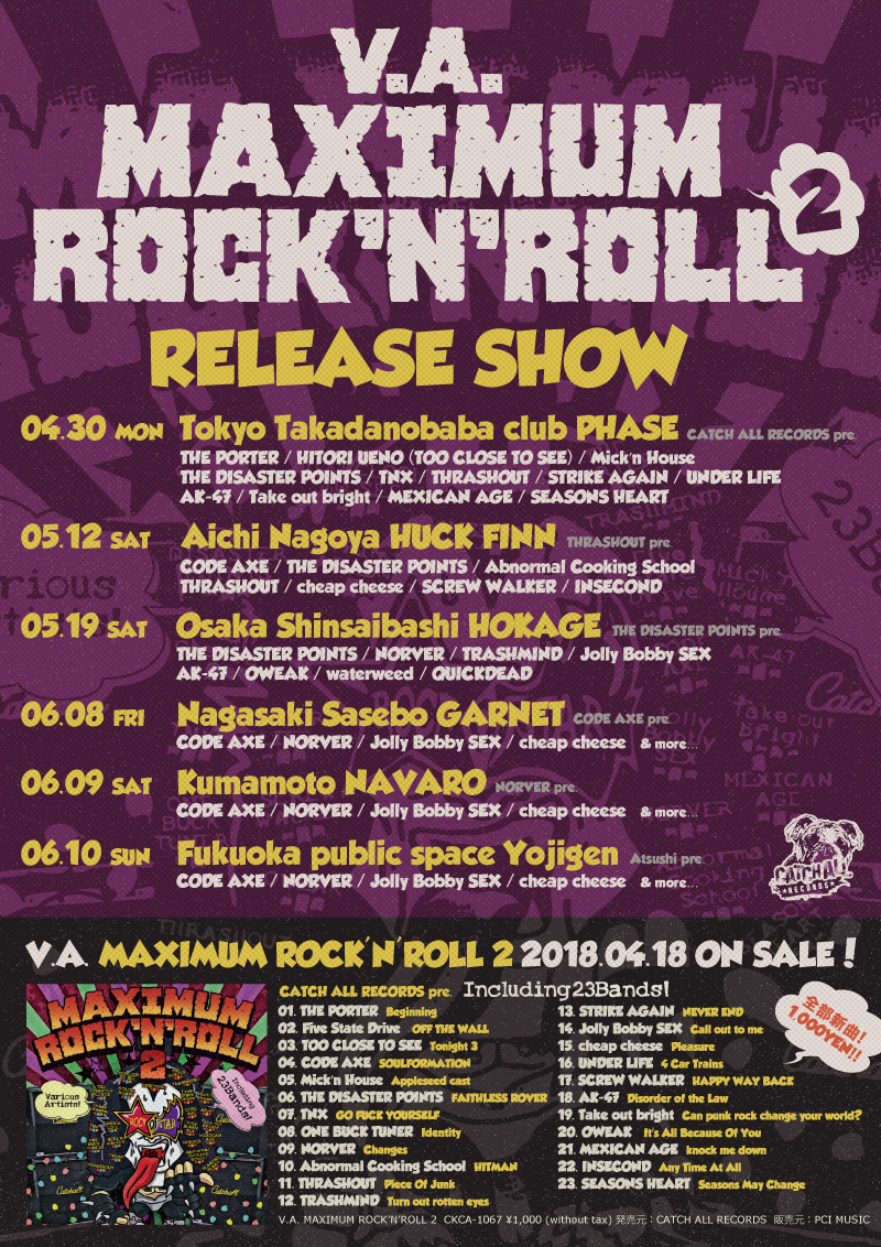 V.A. / MAXIMUM ROCK'N'ROLL 2 RELEASE SHOW解禁